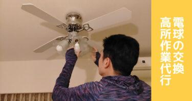 電球交換、照明器具・ライトの取り付け取り外し、高所作業代行